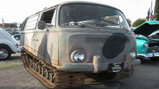 Half volkswagen bus half studebaker tank all awesome for 16 window vw bus for sale