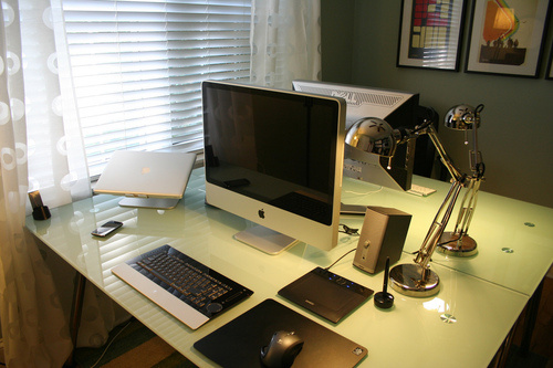 His Hers And The Media Centre A Compact Home Office Lifehacker Australia