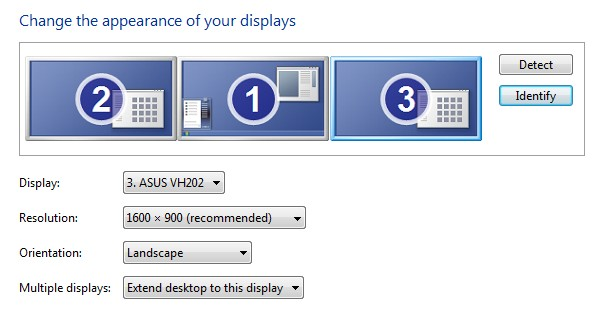 how to hook up multiple monitors windows 7 Use dual monitors with windows 10 with a dual monitor setup the one you choose depends on which one you used to connect the computer to the tv 3.