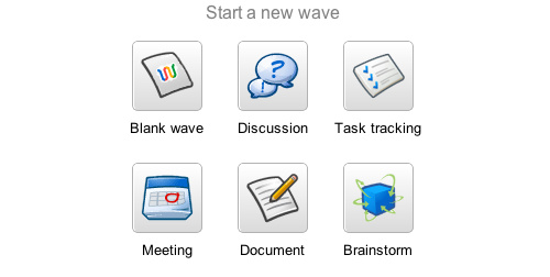 Google Wave's Quick, New Wave Templates Guide Your Wave Use