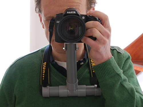 Make a Chest Support for your Camera out of PVC Pipe