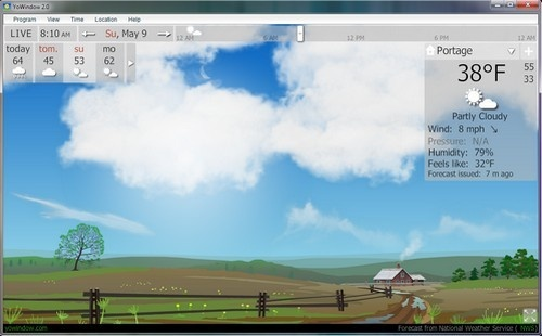 YoWindow Gives Animated Real Time Weather Reports
