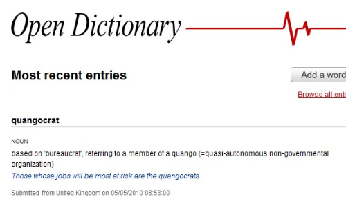 Open dictionary is a more reliable cleaner urban for Open dictionary