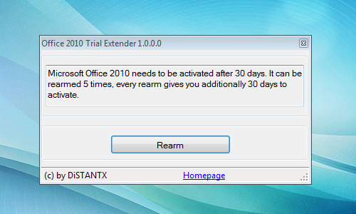 office 2010 trial extender free download
