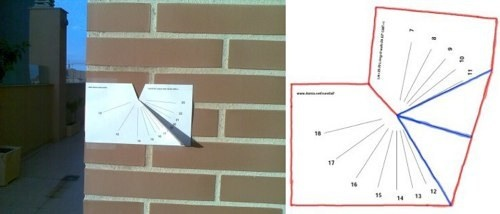 create a working vertical sundial based on your location