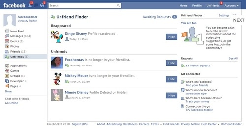 Unfriend Finder Helps You Discover Who Has Unfriended You on Facebook