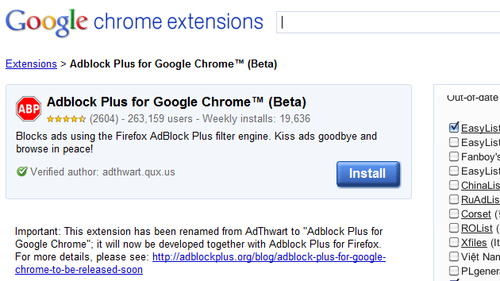 500x adblock plus chrome AdThwart Quietly Becomes Adblock Plus for Chrome, Adds Updated Filters