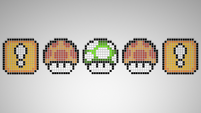 This Wallpaper Was Created By DesktopNexus User UserNULL Featuring The Wonderful Variety Of 8 Bit Mario Mushrooms And Blocks Its A Nice Simple Way To