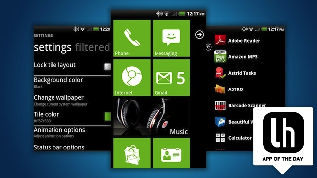 Launcher 7 brings windows phone 39 s attractive interface to for Design home android