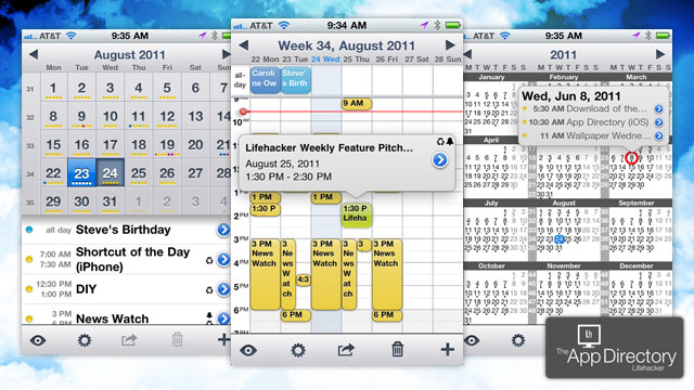 Weekly Calendar App : The best calendar app for iphone lifehacker australia