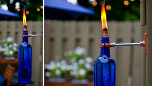 Turn a Used Wine Bottle into an Stylish, Mosquito-Repelling Torch