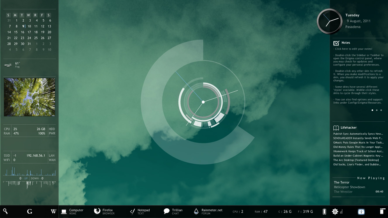 how to create an attractive customised desktop hud with