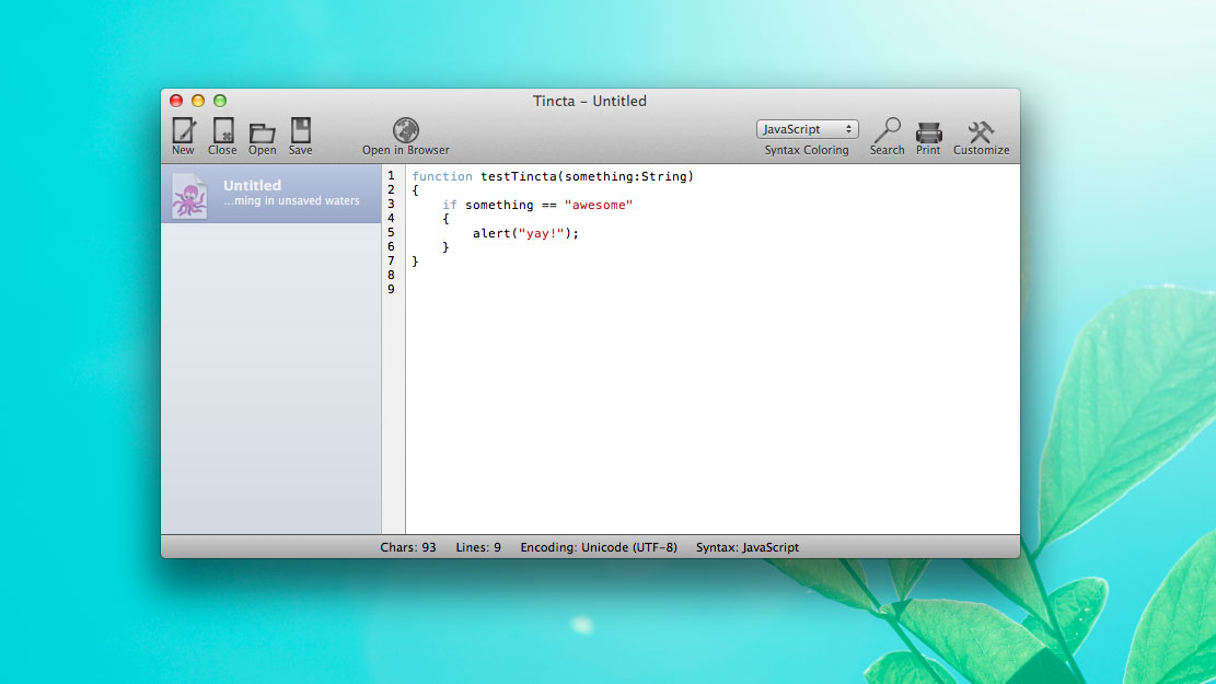 Tincta Is A Free Programming Text Editor For Mac