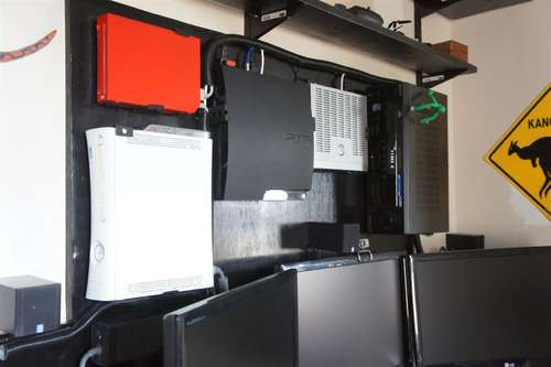 The Wall Mounted Gaming Consoles Workspace Lifehacker