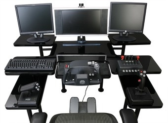Digital Edgeu0027s Gaming Table Includes Room To House Up To Three 21 Inch LCD  Monitors, A Printer And Plenty Of Flightsticks.