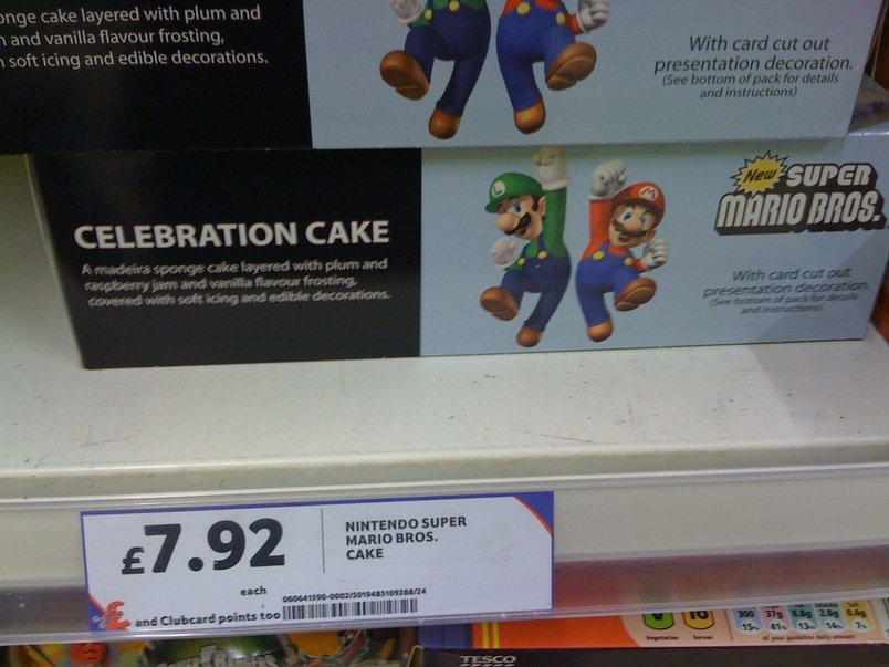 Super Mario Birthday Cake Tesco