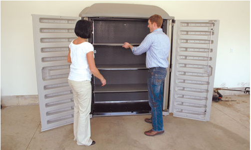 Atkinson Designs Stand N Stow : Tow n stow trailer doubles as a storage unit in the garage