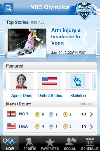 Nbc olympics an all in one total listing brochure coverage app for