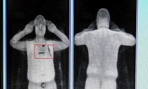 body scanners when asked