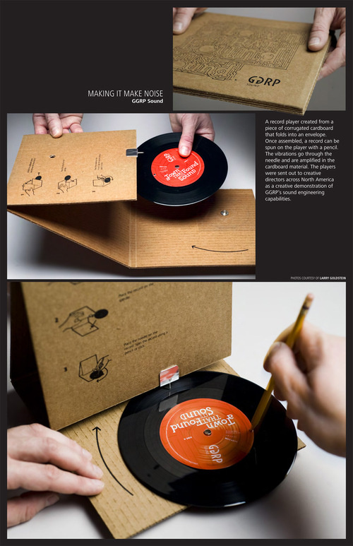 No Record Player? No Problem. New Invention puts it in the Record Sleeve!