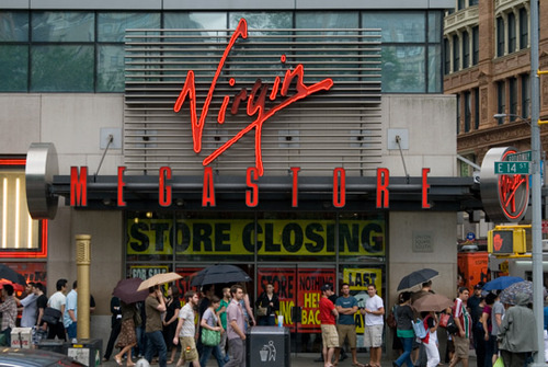500x virgin megastore Change or Die [Music]