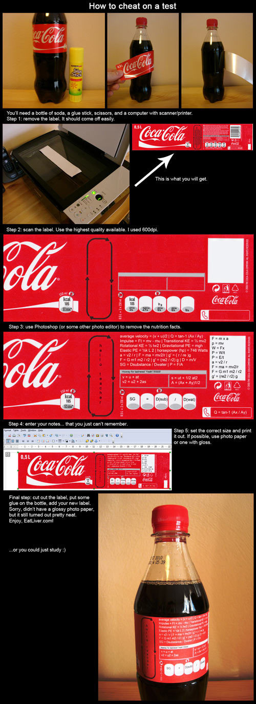 The Coke Bottle Cheat Sheet