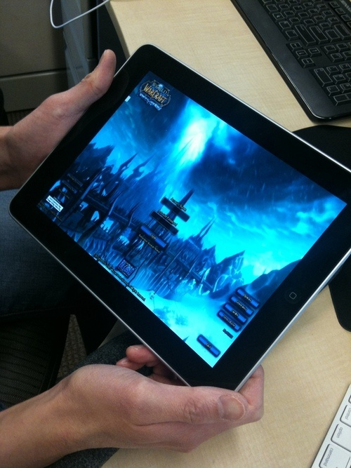 World of Warcraft Streamed To The iPad Through Wi-Fi