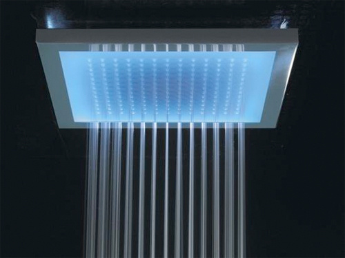 Bathe Under The LED Shower
