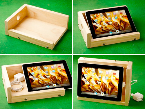 Wooden Ipad Stand Amplifies Audio And Mocks Your Diy Skills Ultra