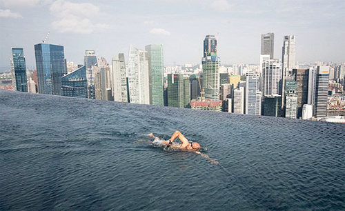 Careful Not to Backstroke Over the Edge of  Singapore