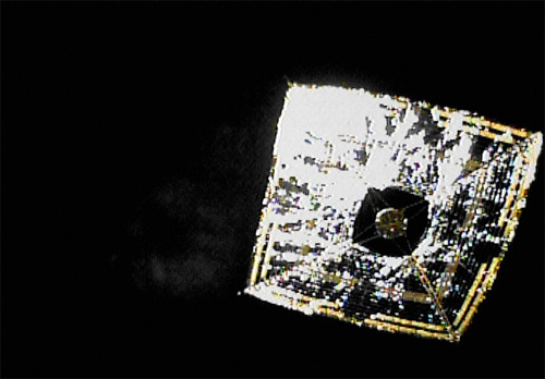 Japan's Space-Surfing Solar Sail Photographed For First Time