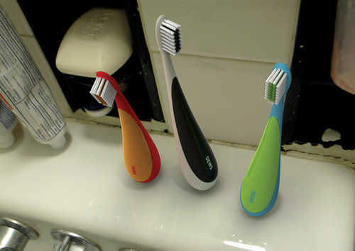 Someone Please Manufacture This  Self-Standing Toothbrush