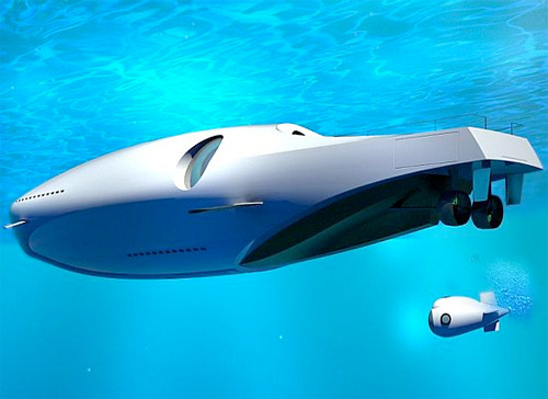 Undersea Yacht Submerges When Your Sunburn  Starts Hurting