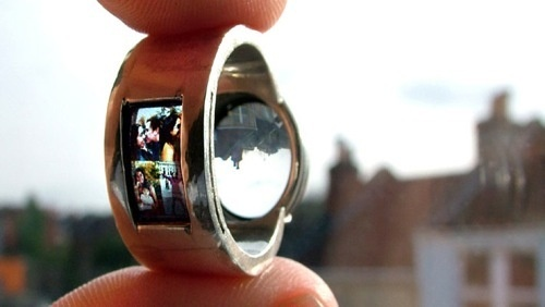 Projector Wedding Ring Will Make You Look Highly Unromantic by Comparison