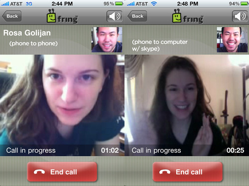 Fring iPhone App Supports Video Calls Over 3G to Any Fring or Skype User