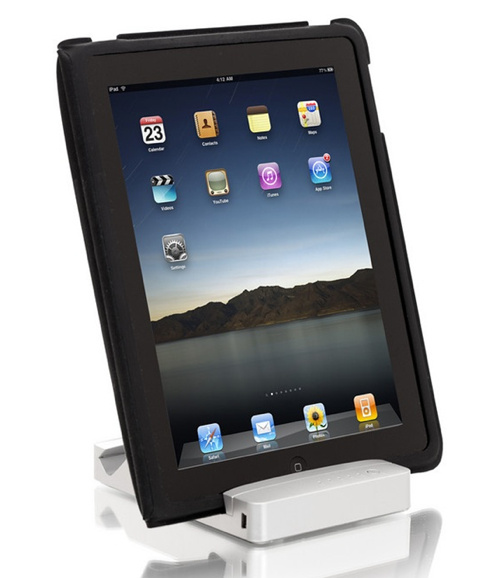 HyperMac iPad Stand Charges While You Watch