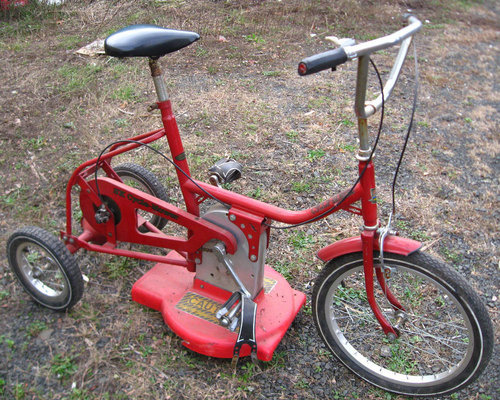 Lawn Mower Tricycle Doesn't Makes Lawn Mowing Any More Fun