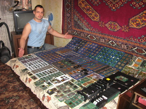 A Humble Russian Man Presents His CPU Collection