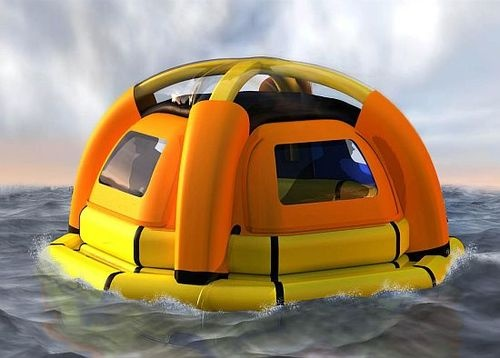 The SeaKettle Life Raft Makes Its Own Drinking Water