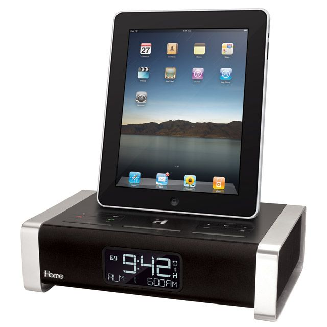 oh finally the ipad clock radio dock gizmodo australia. Black Bedroom Furniture Sets. Home Design Ideas