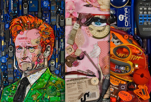 Ultrarealistic Portraits Made of Electronic Junk