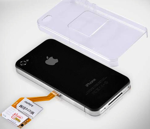 iPhone 4 Case Comes With Built-In  Dual-SIM Adapter
