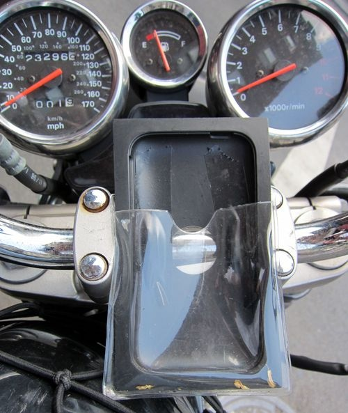 The Free iPhone Motorcycle Mount