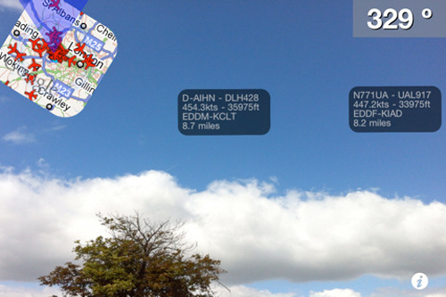 Point an iPhone at the Sky, See Augmented Reality Info as Planes Fly