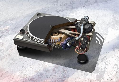 The Secret Guts of DSLR Cameras and Turntables