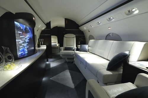 Gulfstream Private Jet Includes Flying Home Theater