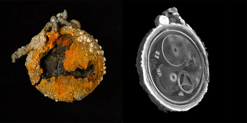 X-Rays Reveal Perfectly Preserved Mechanisms Inside 300-Year-Old Pocket Watch