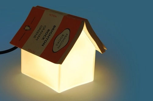 Turn Your Book into This Lamp's Roof (And Save Your Spot)