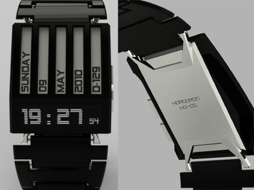 Simplistic Horodron Watch Concept Hides Subtle E-Ink Secret