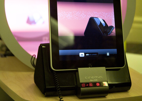 Imagine an iPad Dock With a Built-In Projector